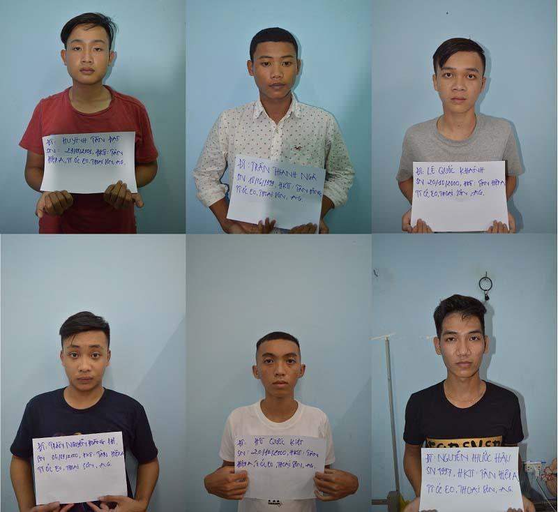 6 thanh niên hiếp dâm tập thể hai bé gái trong khách sạn tại cơ quan công an. Ảnh: C.A