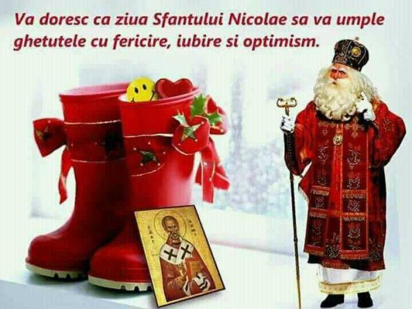 Mos Nicolae sa va umple ghetutele cu fericire