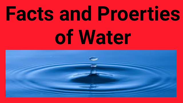 facts and properties of water