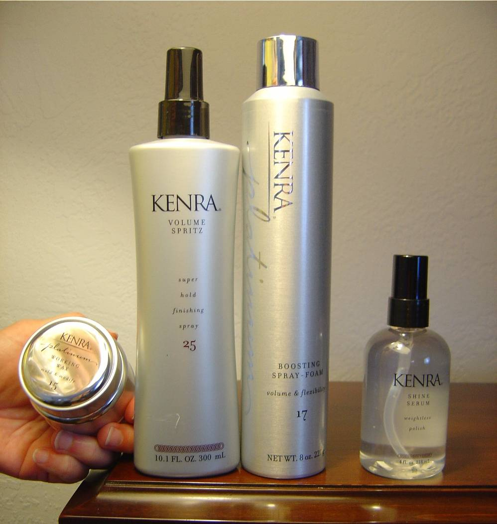 Kenra Platinum Working Wax 15, Boosting Spray-Foam 17, Shine Serum, Volum Spritz Spray 25.jpeg