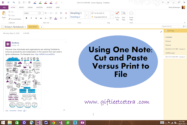 print, technology, OneNote, One Note