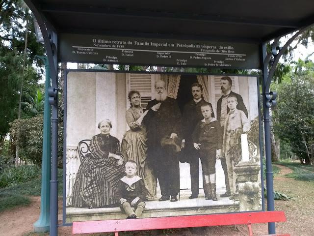 Última foto da família imperial no Brasil