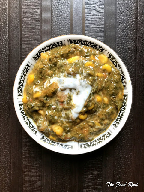 Corn Palak is a healthy, wholesome and power-packed meal.