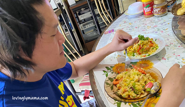 seafood rice, seafood rice recipe, fried rice, family gatherings, birthday party, Sunday lunch, weekend lunch, seafood recipe, fried rice variant, homecooking, from my kitchen, kitchen experiment, original recipe, husband, party, fiesta food, Philippines, Pinoy dish, marriage, husband