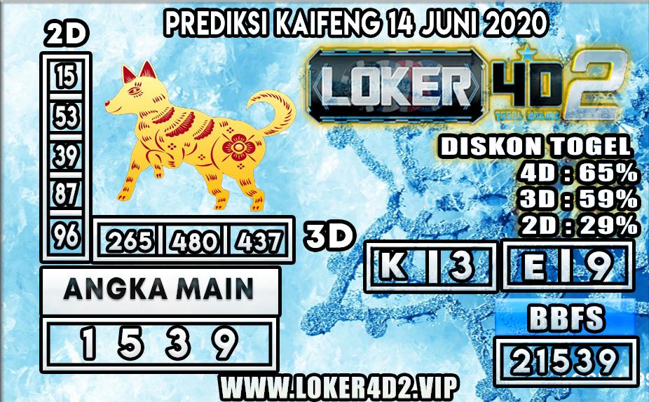 PREDIKSI TOGEL KAIFENG LOKER4D2 14 JUNI 2020
