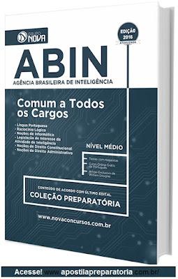 Apostila da ABIN 2017 (Todos os Cargos) Agência Brasileira de Inteligência