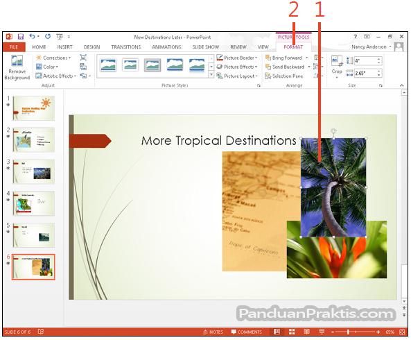 Cara Mengatur Susunan Objek Yang Bertumpuk Dan Menggabungkan Merge Objek Di Powerpoint 2013