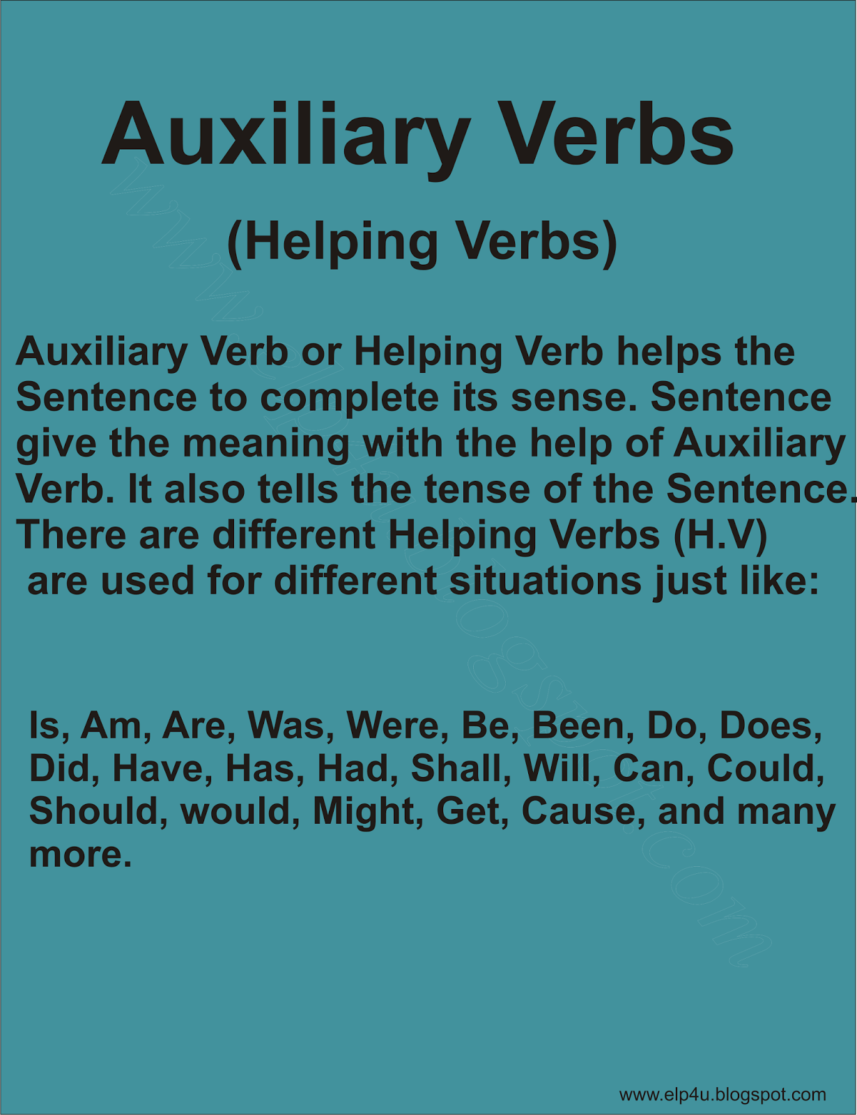 Auxiliary Verb English Learning Point