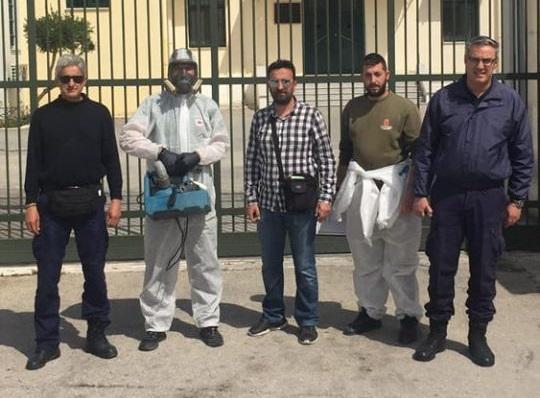 Απολύμανση στη Δικαστική Φυλακή Ναυπλίου