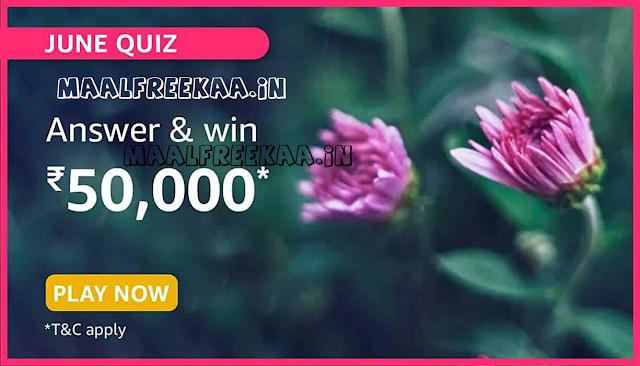 Amazon June Quiz Answer & Win