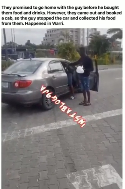 Young man collects items he bought for a girl after she refuse to follow him home..(video)