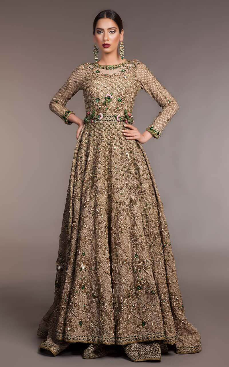 Fahad Hussayn Gold Bridal Gown