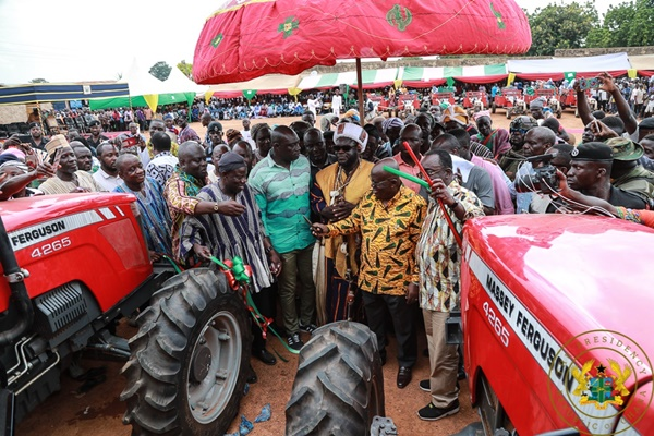 President Akufo-Addo Presents Equipment To Wulensi Agric Mechanisation Centre