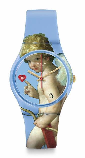 swatch louvre müzesi iş birliği swatch x louvre FLECHE D'AMOUR