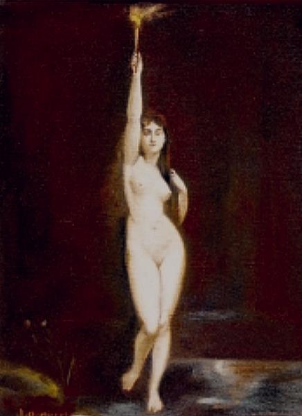 Desnudo con antorcha, 1930