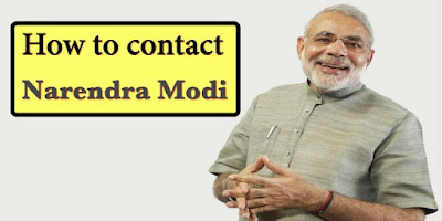How To Contact Narendra Modi
