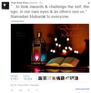 Ucapan Shahrukh Khan Menyambut Bulan Puasa Ramadan 2015, Yuk Intip!