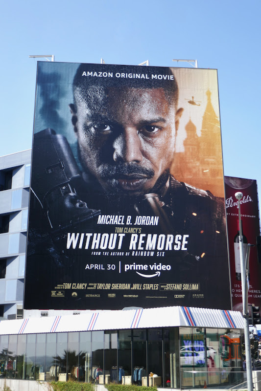 Giant Tom Clancys Without Remorse movie billboard