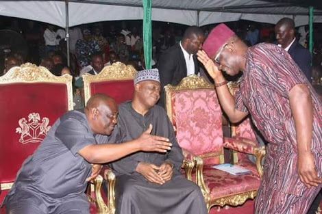 Saraki Spotted With Wike & Fayose (Photos)