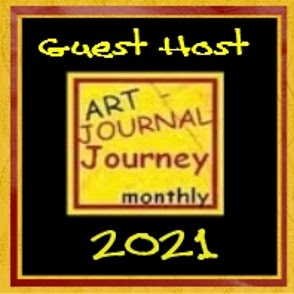 Honoured to be October's Guest Host @ Art Journal Journey