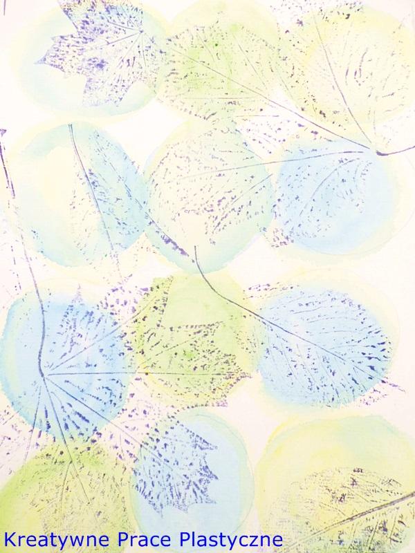 kalkografia z liści