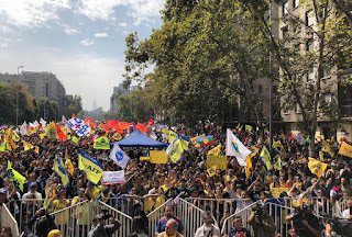 Nueva marcha contra las AFP se toma las calles de Chile