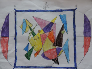 hallucinatory shapes drawn by child