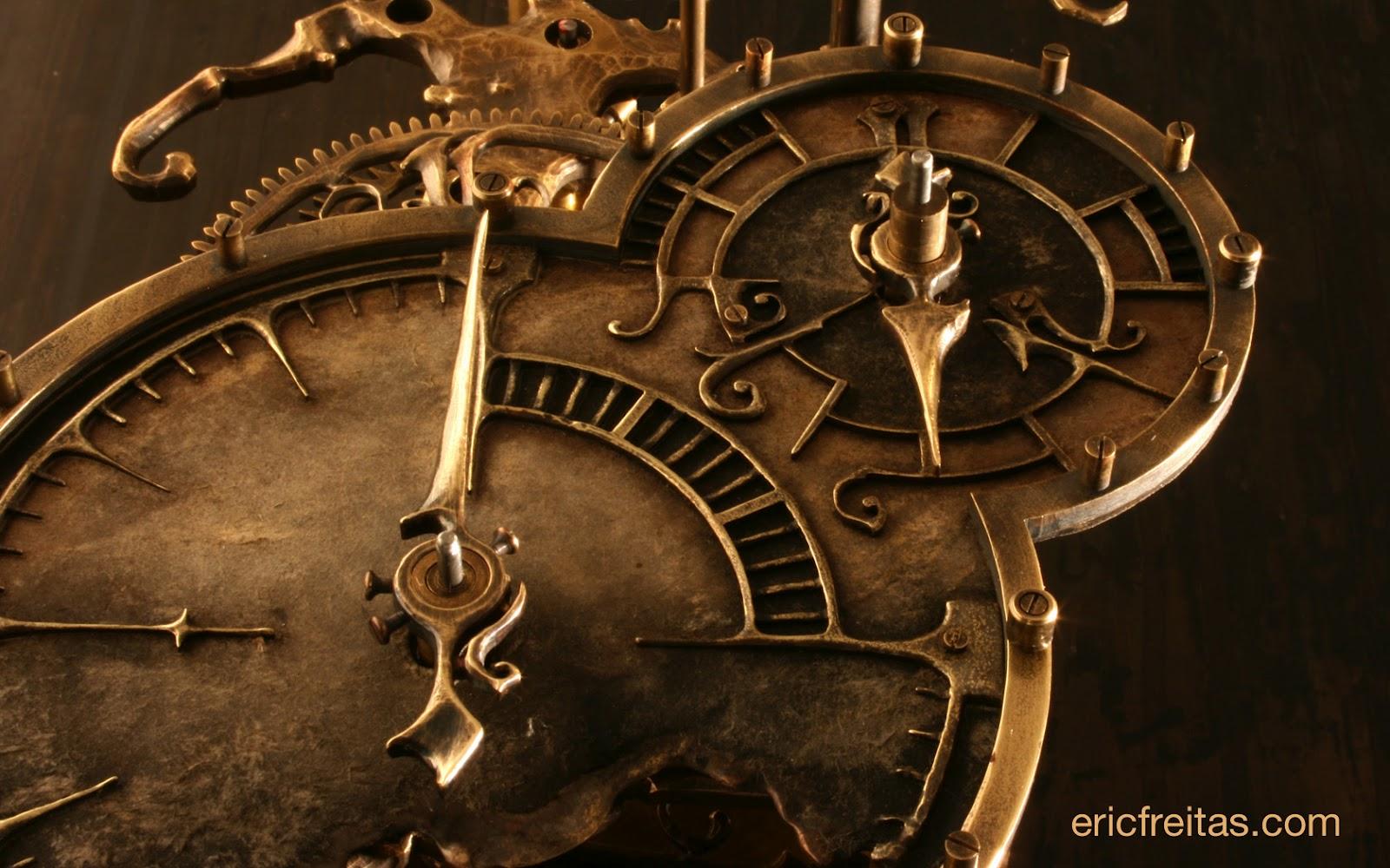 steampunk wallpaper clock -#main