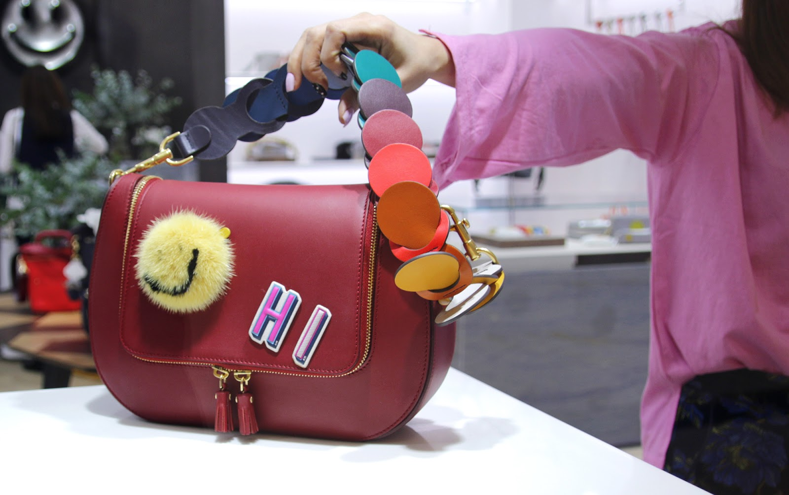 2017 S Anya Hindmarch New Bags Smiley Straps