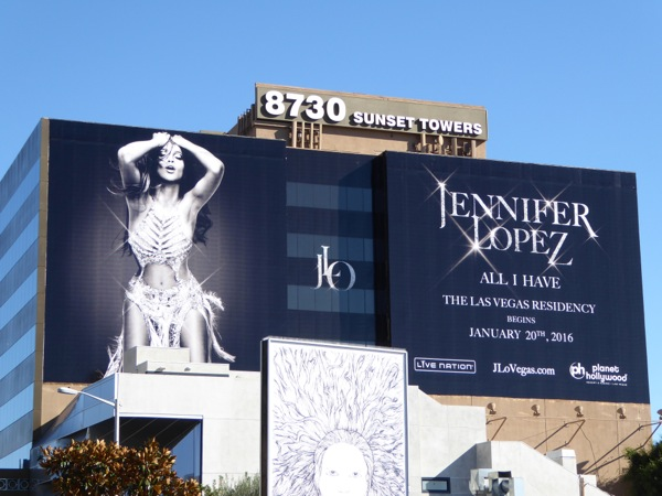 Giant Jennifer Lopez All I Have Las Vegas billboard