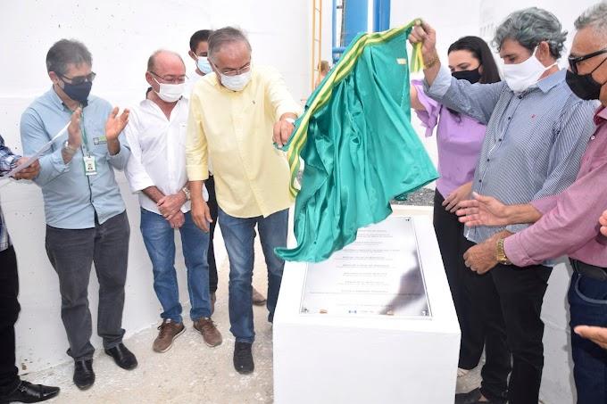 Prefeito Antônio Martins inaugura o grande Sistema de Abastecimento D'àgua da Adutora Taquara
