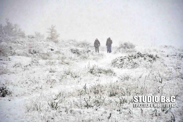 Ιστορική χιονόπτωση στο Άργος μετά από 30 χρόνια - Φωτογραφικό οδοιπορικό (βίντεο)