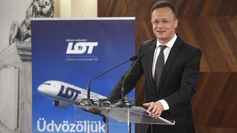 Szijjártó: a LOT második bázisává válik Budapest