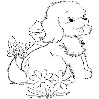 Cute Puppies In Animal Coloring Page Print Online For Kids