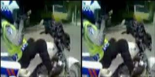 VIDEO POLISI AKROBAT