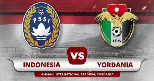 Laga Uji Coba Indonesia vs Yordania