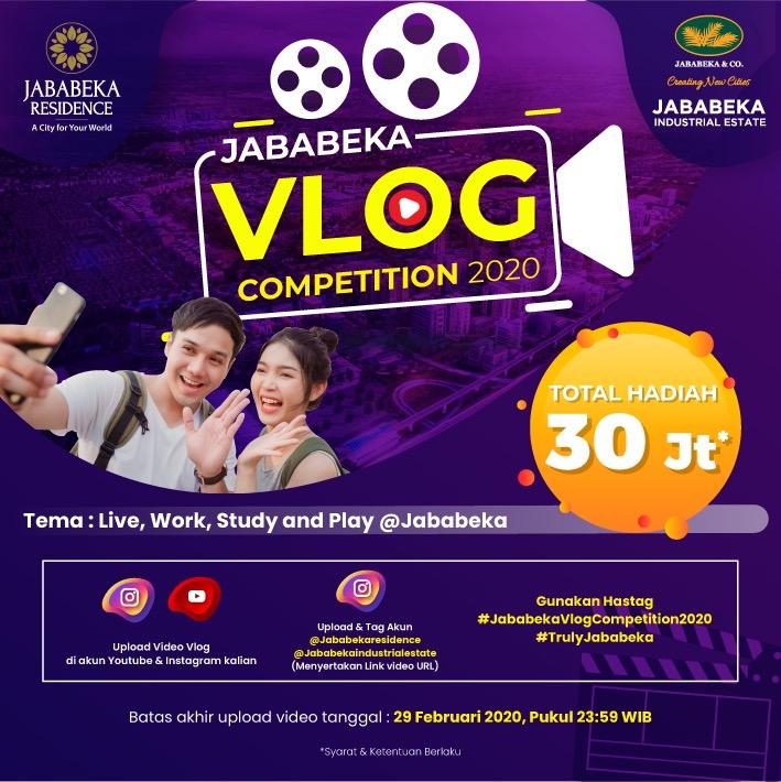 Jababeka Vlog Competition 2020 -Total Hadiah 30 Juta