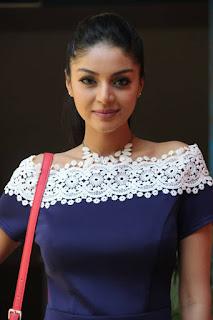 Sanam Shetty ina Tight Short Dress at Sawaari Movie Press meet