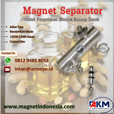 magnet separator type inline 11500-12000 gauss