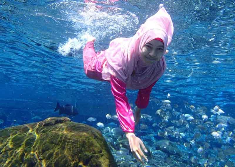 Umbul Ponggok Klaten, Tempat Seru Untuk Snorkelling