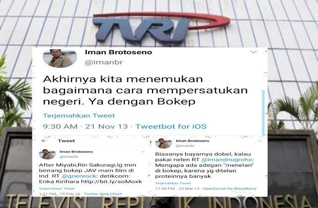 Geger Dirut Baru TVRI, Eks Kontributor Playboy, Warganet 'Bongkar' Jejak Twit-Twit Lamanya Yang Sangat Tak Pantas