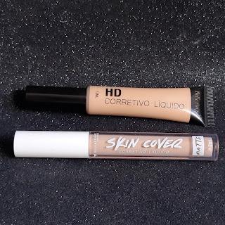 Qual o melhor corretivo Corretivo HD da Belle Angel ou Skin Cover da Bella Femme resenha dicas da tia embalagem