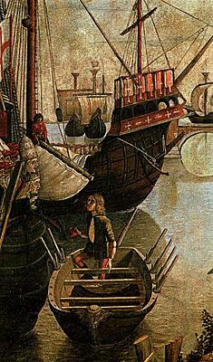 VVVenise Musée de l'Académie Légende de Saint Ursule : arrivée des pèlerins (détail)