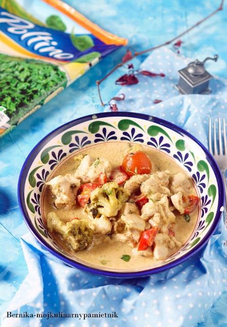 curry, wolnowar, kurczak, udka, obiad, szpinak, poltino, bernika, kulinarny pamietnik