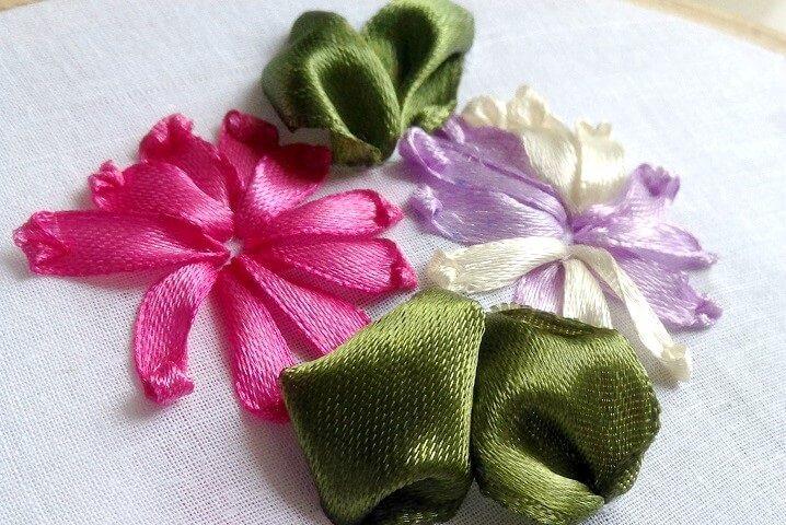 Thêu hoa bằng dây ruy băng - Hình 1