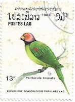 Selo Periquito-de-cabeça-rosa