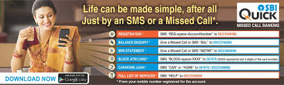 State Bank of India (SBI) Quick Services of Mini Statement, Balance Enquiry, E Statement and ATM Block. /2019/09/sbi-quick-missed-call-and-sms-banking-services-balance-enquiry-mini-statement-details.html