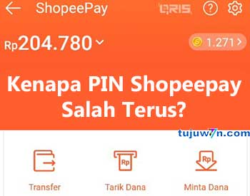 pin shopeepay salah terus kenapa?