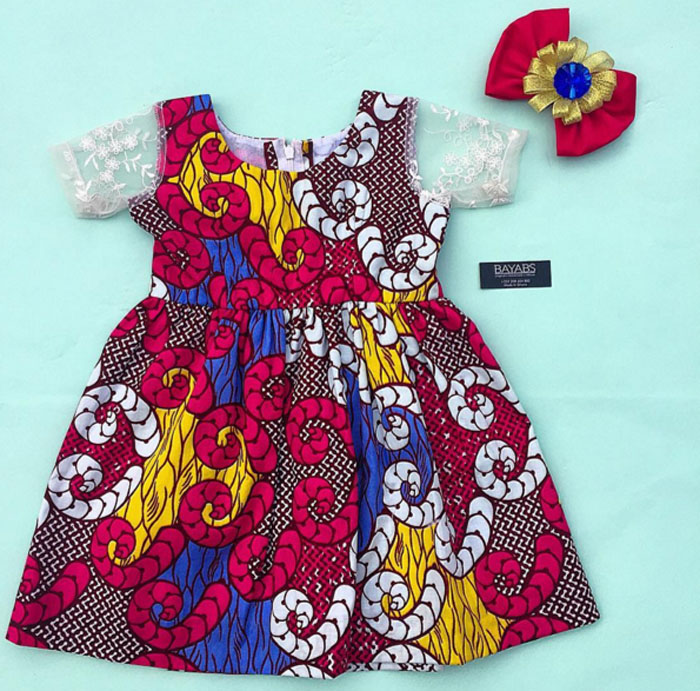 Ankara Baby Skirt Designs (1)