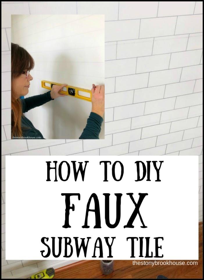 DIY Faux Subway Tile